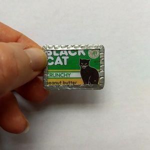 Black Cat Peanut butter adjustable ring